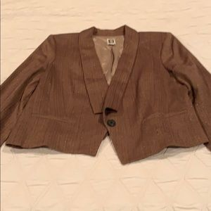 Anne Klein brown tone blazer